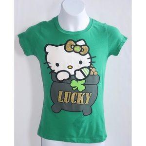 Hello Kitty Girls Lucky Shirt Sz Small 7/8